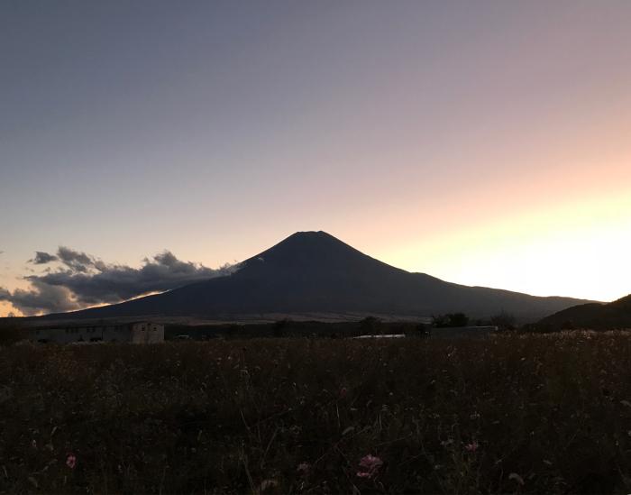 日没の富士山_c0301809_17134801.jpg