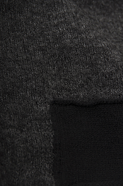 TANG Charcoal × Black Asymmetry Knit_d0120442_14131022.jpg