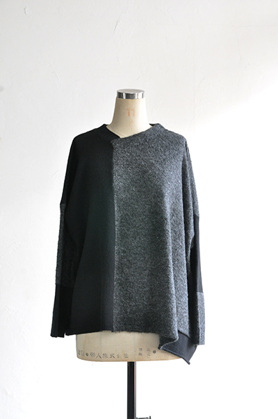 TANG Charcoal × Black Asymmetry Knit_d0120442_14131763.jpg