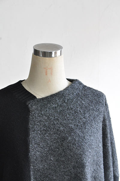 TANG Charcoal × Black Asymmetry Knit_d0120442_14131850.jpg