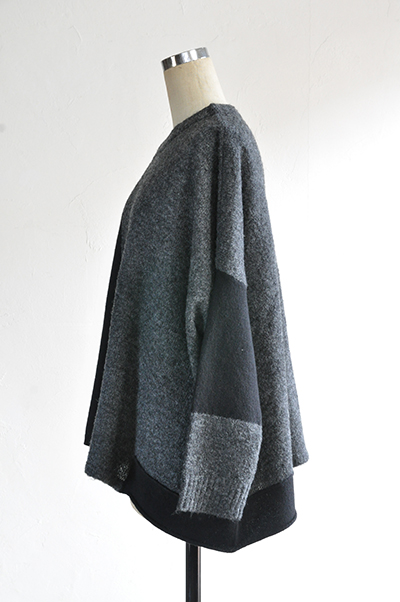 TANG Charcoal × Black Asymmetry Knit_d0120442_14131957.jpg