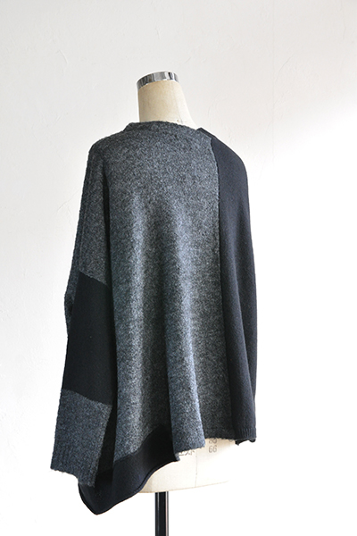 TANG Charcoal × Black Asymmetry Knit_d0120442_14131973.jpg