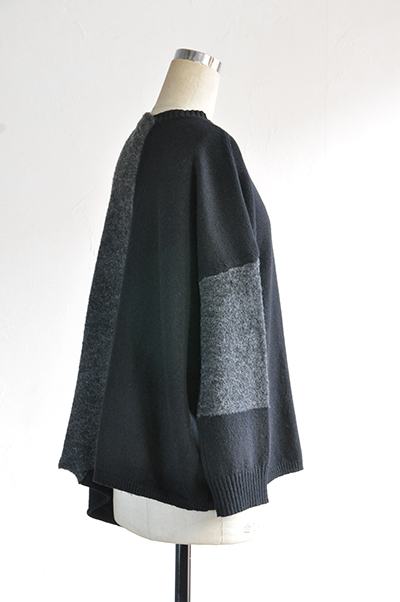 TANG Charcoal × Black Asymmetry Knit_d0120442_14132079.jpg