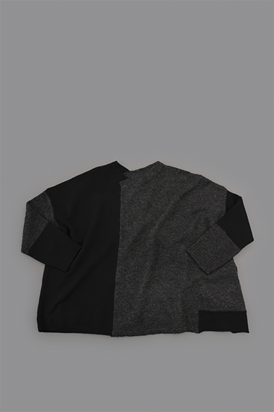 TANG Charcoal × Black Asymmetry Knit_d0120442_1413930.png