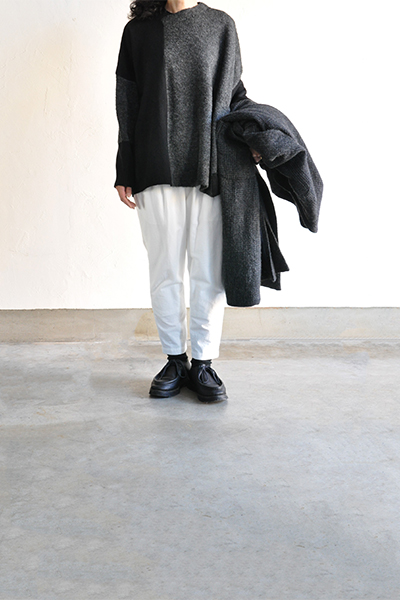 TANG Charcoal × Black Asymmetry Knit_d0120442_14152233.jpg