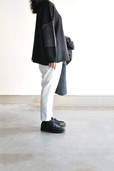 TANG Charcoal × Black Asymmetry Knit_d0120442_14152382.jpg