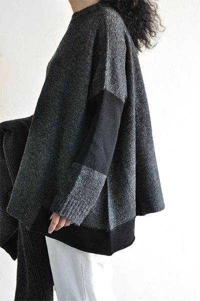 TANG Charcoal × Black Asymmetry Knit_d0120442_14152717.png