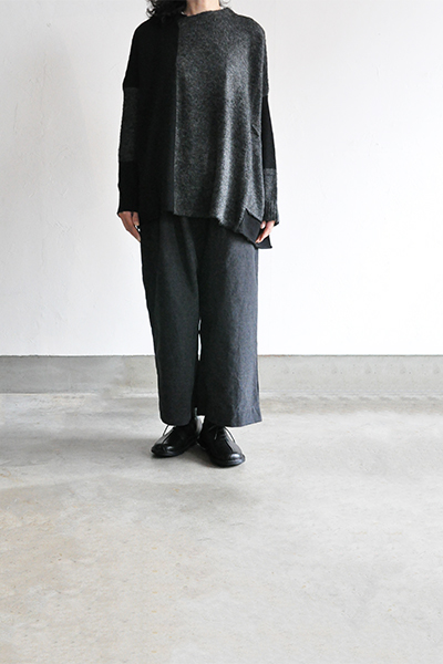 TANG Charcoal × Black Asymmetry Knit_d0120442_14193038.jpg