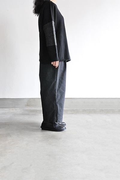 TANG Charcoal × Black Asymmetry Knit_d0120442_14193139.jpg
