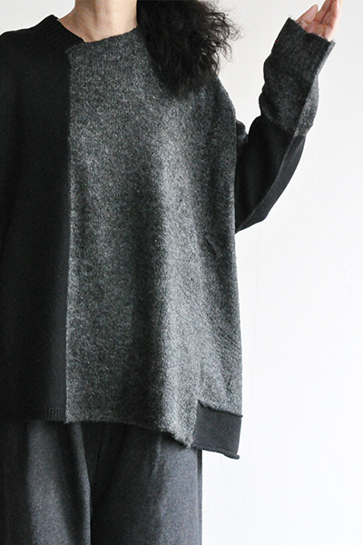 TANG Charcoal × Black Asymmetry Knit_d0120442_14193460.jpg