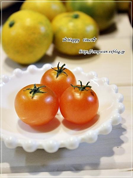 炊き込みごはんおむすび弁当と実家の収穫物と我が家の収穫物♪_f0348032_18061664.jpg