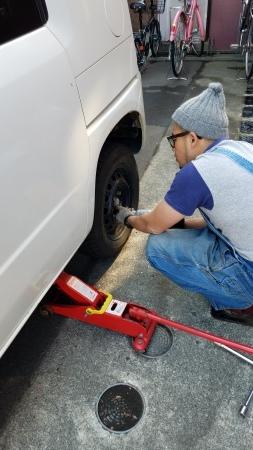 タイヤ交換、除雪機整備!_a0216771_11560252.jpg