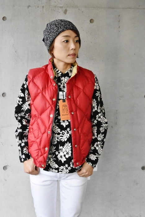 Crescent Down Works (MADE in USA)  「赤」別注QUILT DOWN VEST!★!_d0152280_09575669.jpg