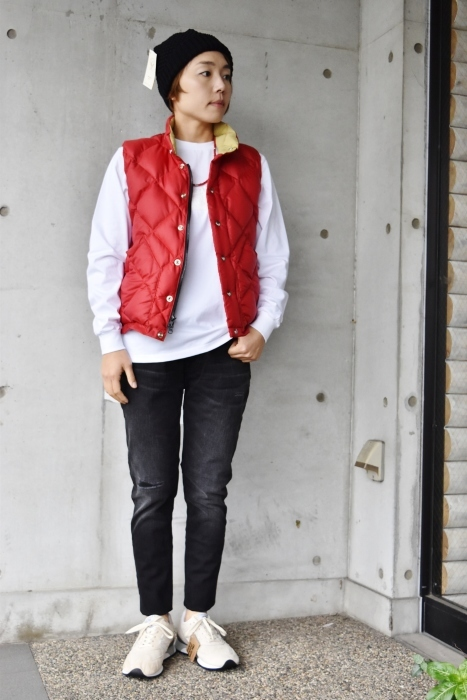 Crescent Down Works (MADE in USA)  「赤」別注QUILT DOWN VEST!★!_d0152280_10082669.jpg