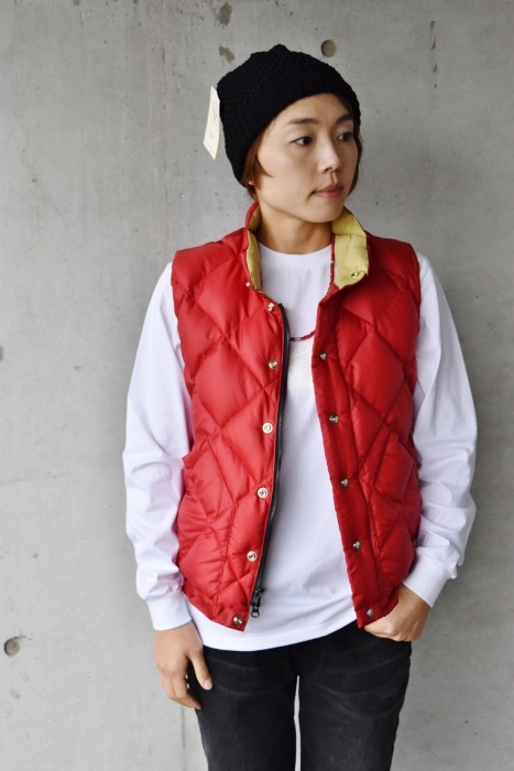 Crescent Down Works (MADE in USA)  「赤」別注QUILT DOWN VEST!★!_d0152280_10100299.jpg