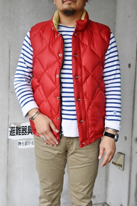 Crescent Down Works (MADE in USA)  「赤」別注QUILT DOWN VEST!★!_d0152280_10141802.jpg