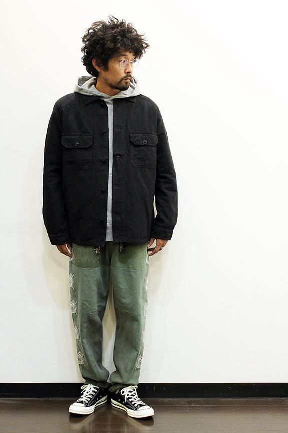 """ink (インク) Dyed Antique Linen Fatigue Shirts \"""" NOTHING FATIGUE \""""_b0122806_12465382.jpg"""