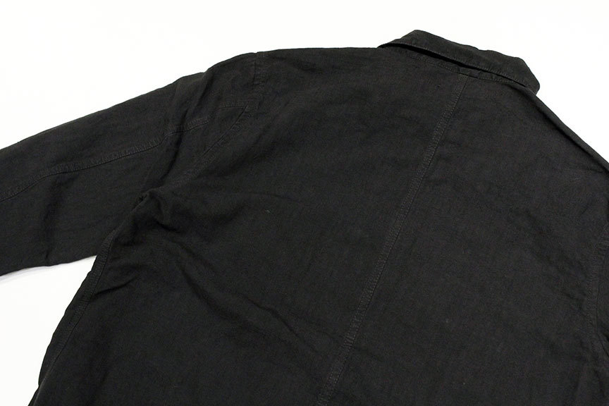 """ink (インク) Dyed Antique Linen Fatigue Shirts \"""" NOTHING FATIGUE \""""_b0122806_12473398.jpg"""