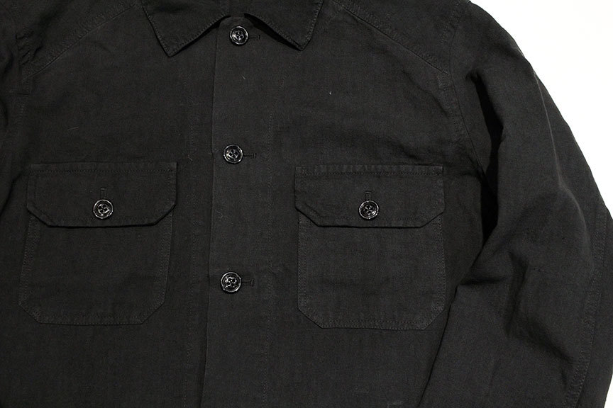 """ink (インク) Dyed Antique Linen Fatigue Shirts \"""" NOTHING FATIGUE \""""_b0122806_12473709.jpg"""