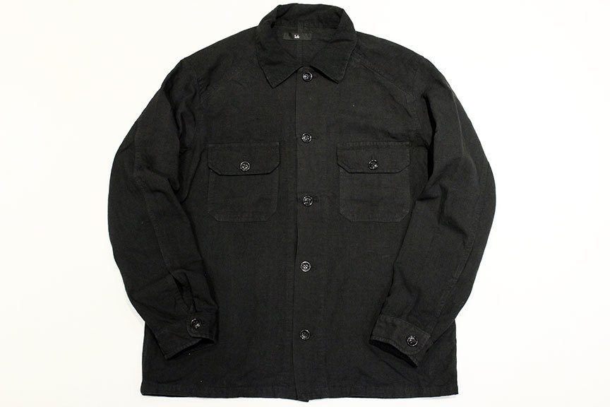 """ink (インク) Dyed Antique Linen Fatigue Shirts \"""" NOTHING FATIGUE \""""_b0122806_12474380.jpg"""