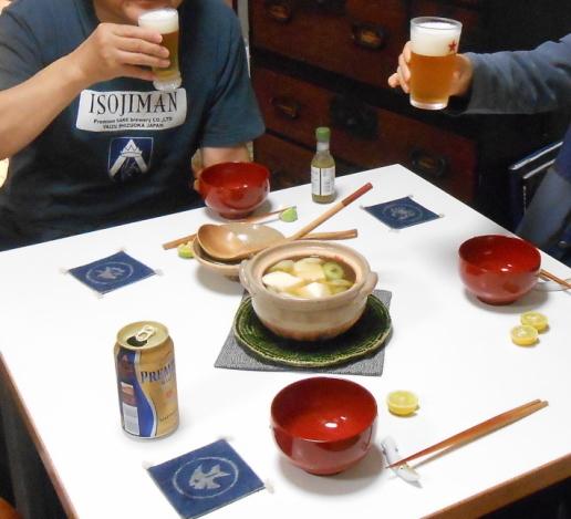 夜神楽の後、寿司をつまみにちょっと飲みました。_a0095931_10093955.jpg