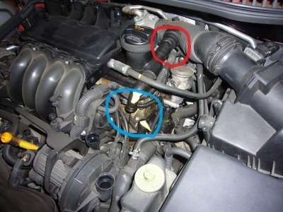 VW ニュービートル ブローバイパイプ交換_c0267693_17513400.jpg