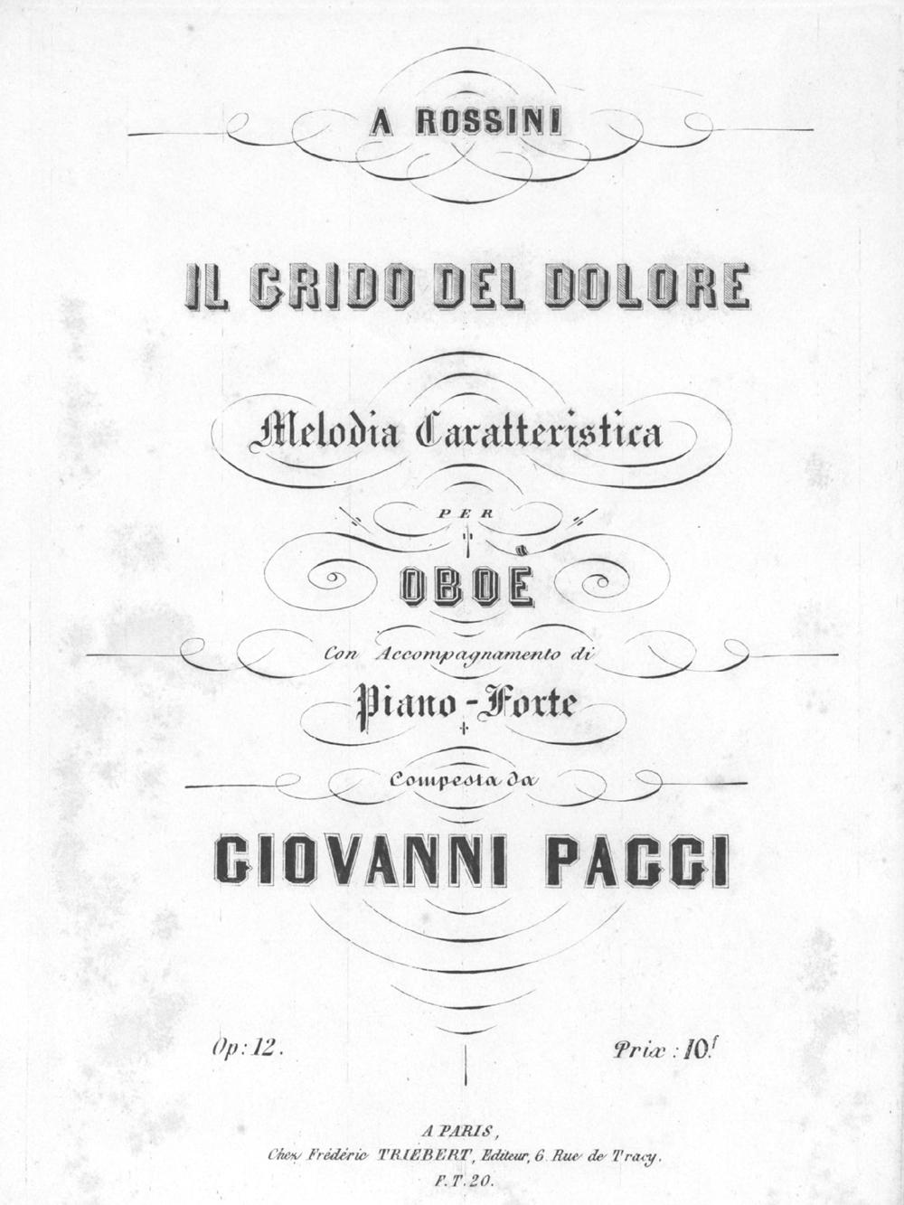 パッジ:ロッシーニへの「悲しみの叫び」 特徴的な旋律 Op.12_b0189423_10375632.jpg