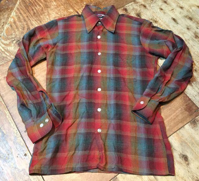 11月11日(土)入荷!70s〜ARROW オンブレーシャツ!_c0144020_15094874.jpg