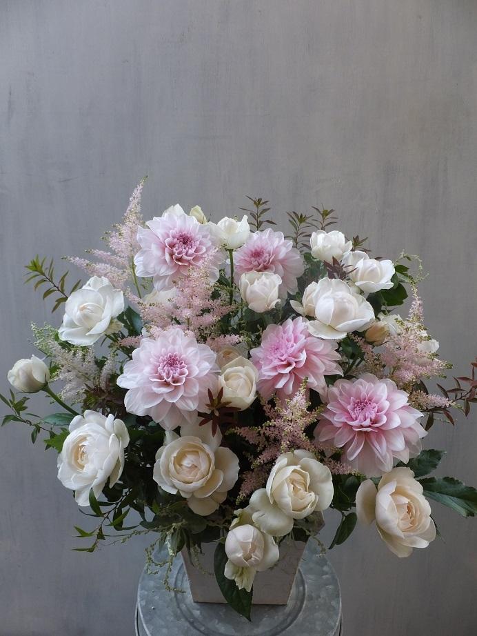 オークリーフ(菊とダリアのアレンジメント)_f0049672_16124988.jpg