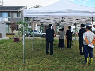 松本市和田で住宅新築 地鎮祭がありました_e0180332_14101573.jpg