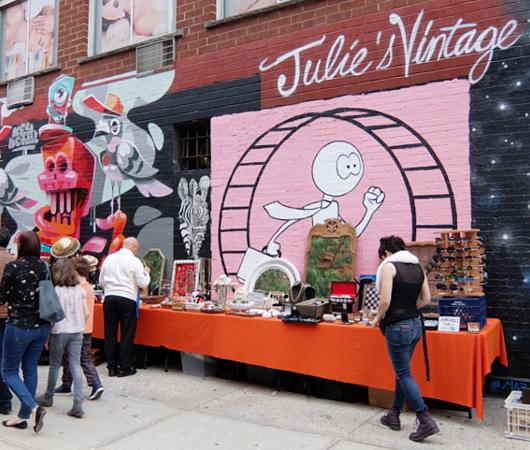 壁画とアンティークのお買い物を同時に楽しめるNYの穴場スポット、Julie\'s Vintage_b0007805_1194785.jpg