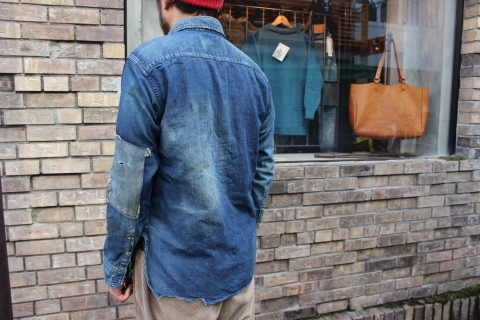 "ANACHRONORM ""DAMAGED DENIM WORK SHIRT\"" ご紹介_f0191324_08092390.jpg"
