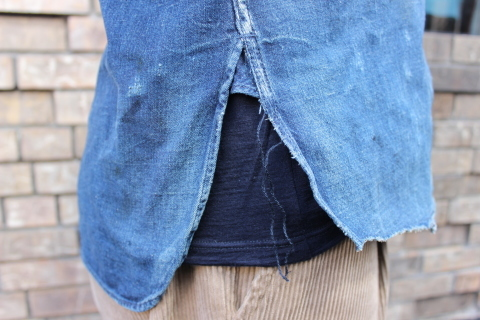 "ANACHRONORM ""DAMAGED DENIM WORK SHIRT\"" ご紹介_f0191324_08101578.jpg"