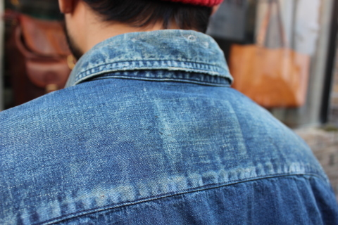 "ANACHRONORM ""DAMAGED DENIM WORK SHIRT\"" ご紹介_f0191324_08131660.jpg"