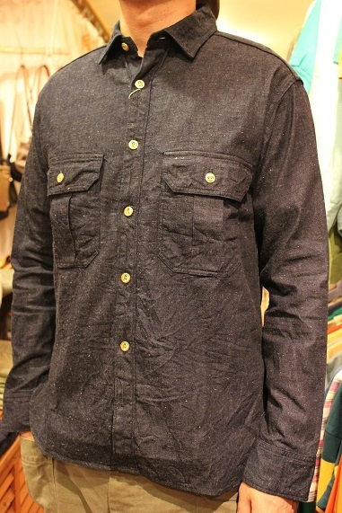 "ANACHRONORM ""DAMAGED DENIM WORK SHIRT\"" ご紹介_f0191324_08222095.jpg"