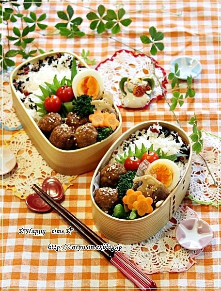 肉団子の甘酢餡弁当とわんこ♪_f0348032_18224216.jpg