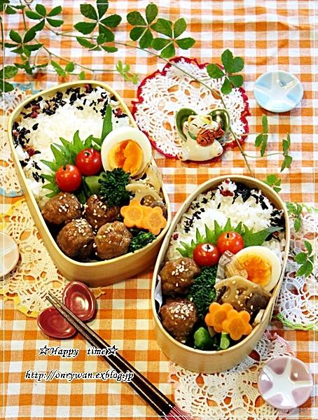 肉団子の甘酢餡弁当とわんこ♪_f0348032_18225582.jpg