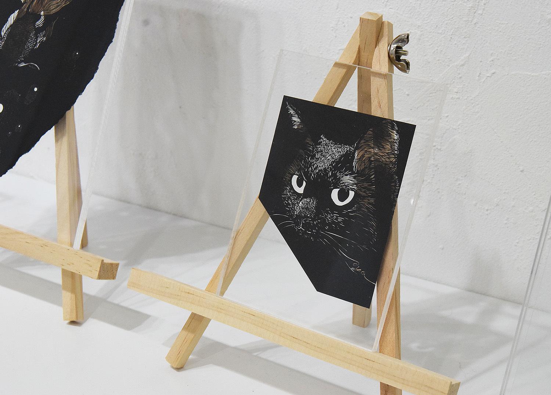 Aya Uotani 切り絵展 2017@1日目_e0272050_12523044.jpg