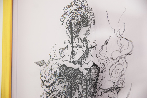 Aya Uotani 切り絵展 2017@1日目_e0272050_12523230.jpg