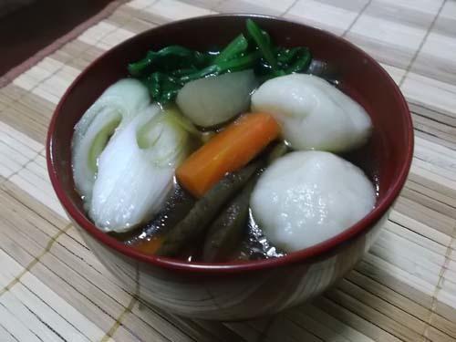 えのきの豚肉巻き&白玉豆腐だんご汁_f0019498_15051976.jpg