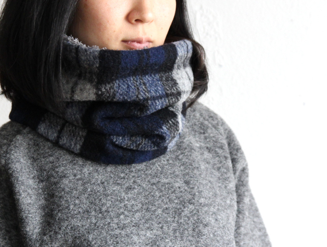 Wool Knit×Boa Neck Warmer_c0379477_20162214.jpg