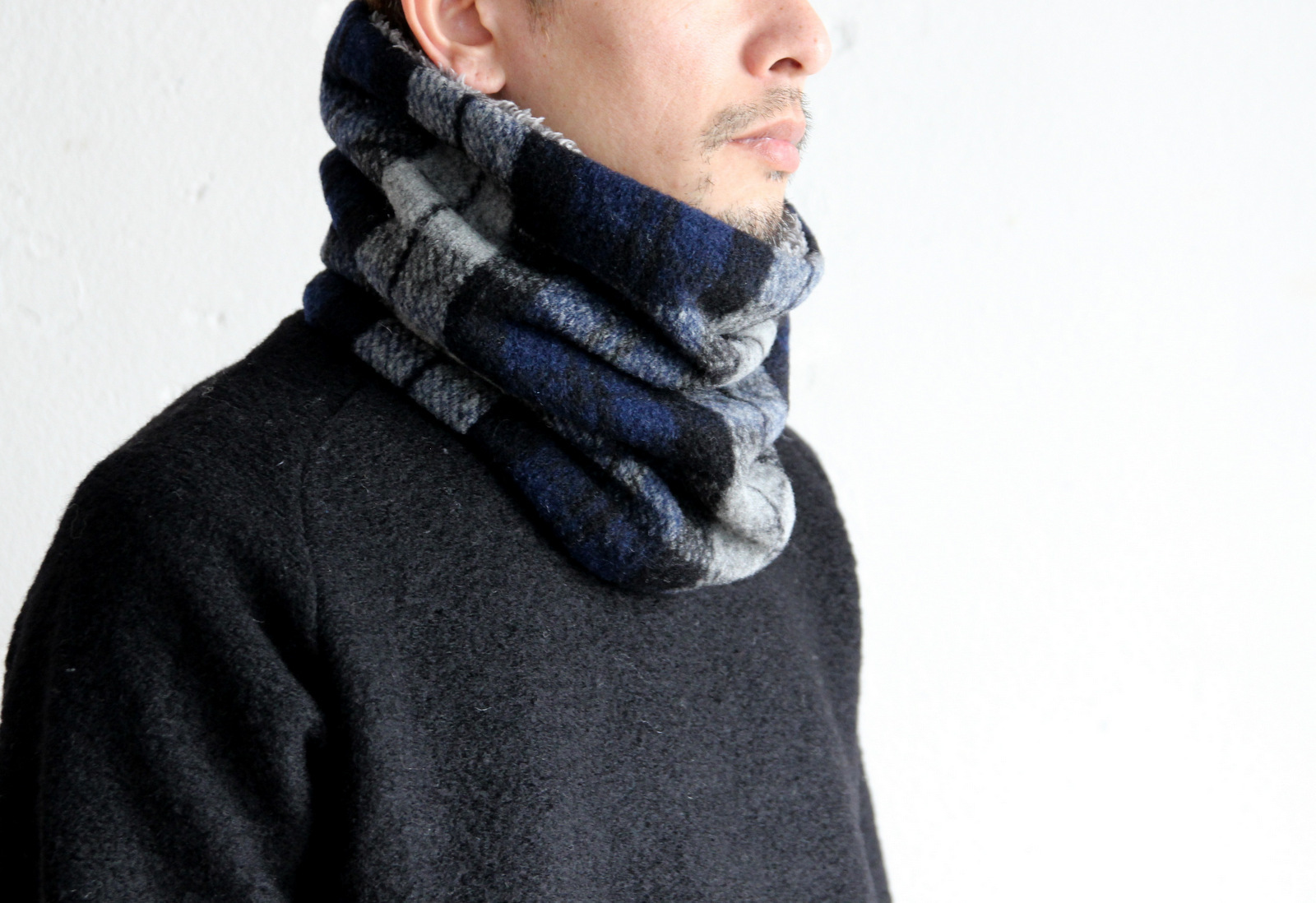 Wool Knit×Boa Neck Warmer_c0379477_20163629.jpg