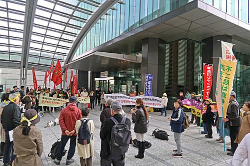 不二越東京本社行動 天国で革命を!_a0188487_10464416.jpg