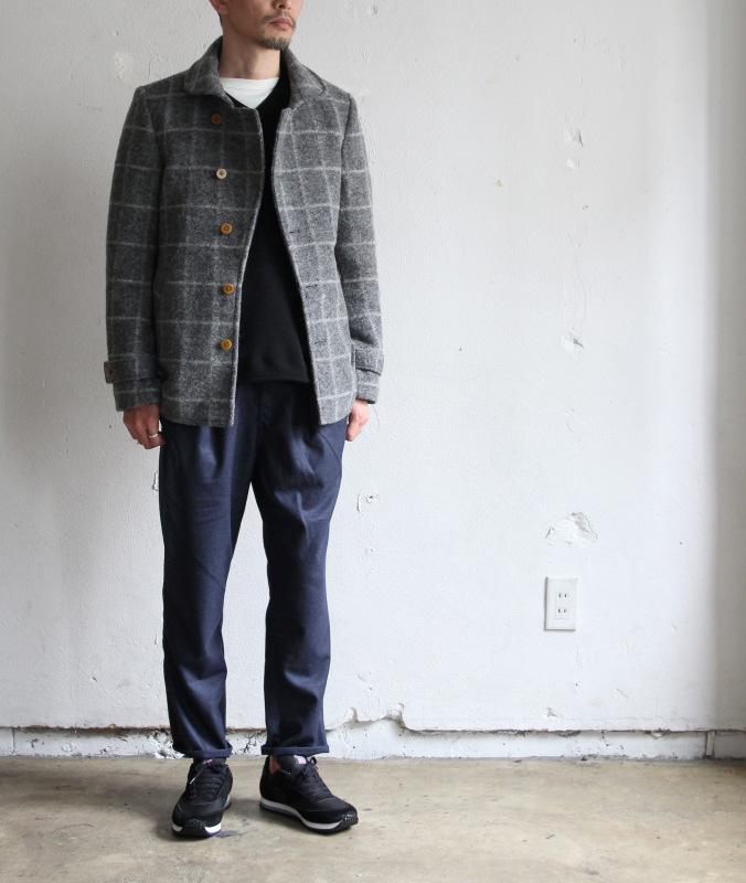 Milling Wool Knit P-coat_c0379477_18310967.jpg