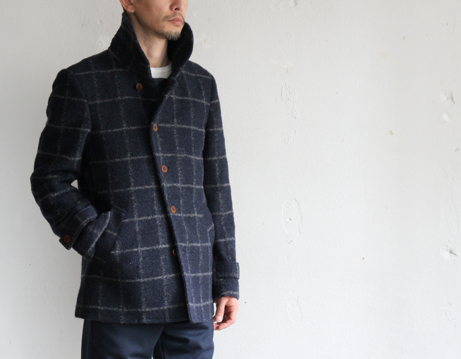 Milling Wool Knit P-coat_c0379477_18313818.jpg