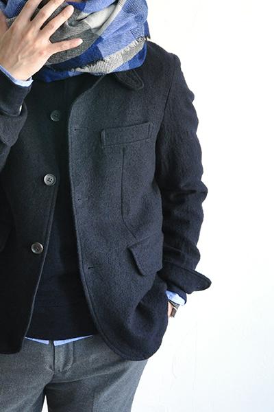 RINEN  2/48 Wool Coverall JK (Navy)_d0120442_12215245.jpg
