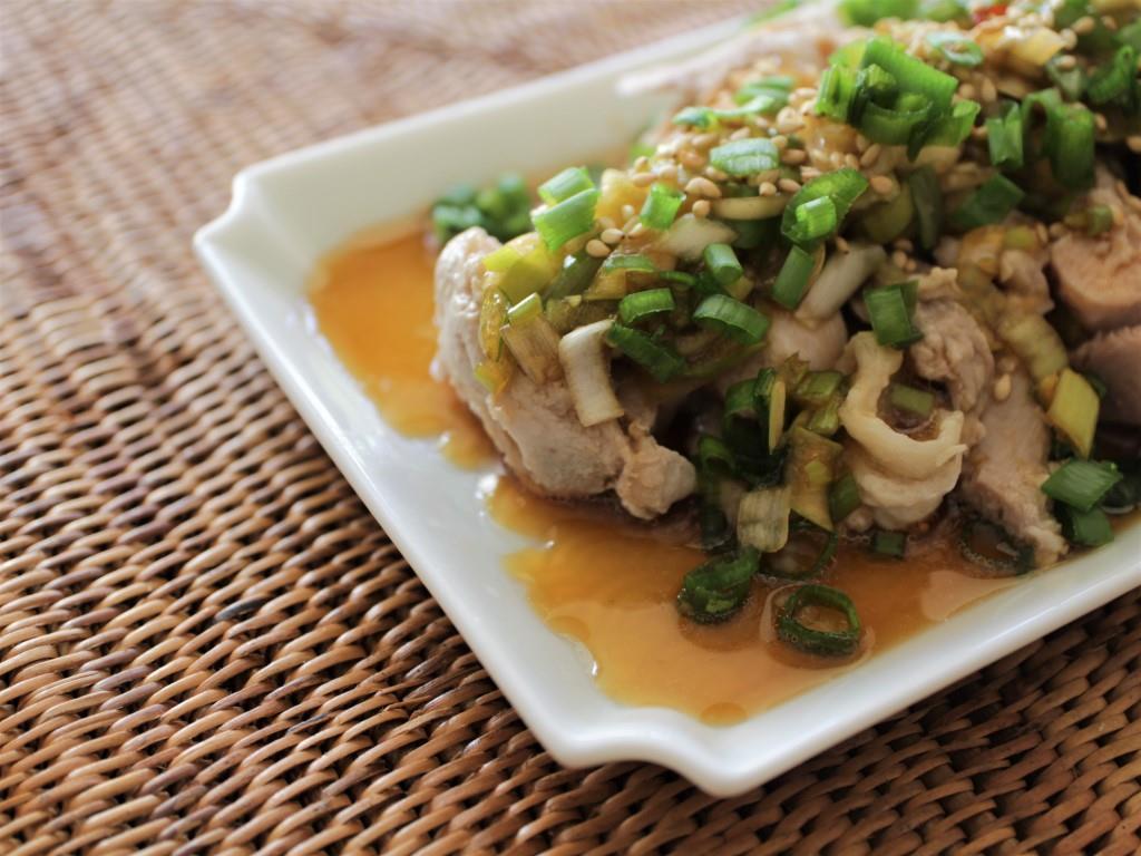 ゆで鶏の中華風ねぎダレ_f0220354_09542565.jpg