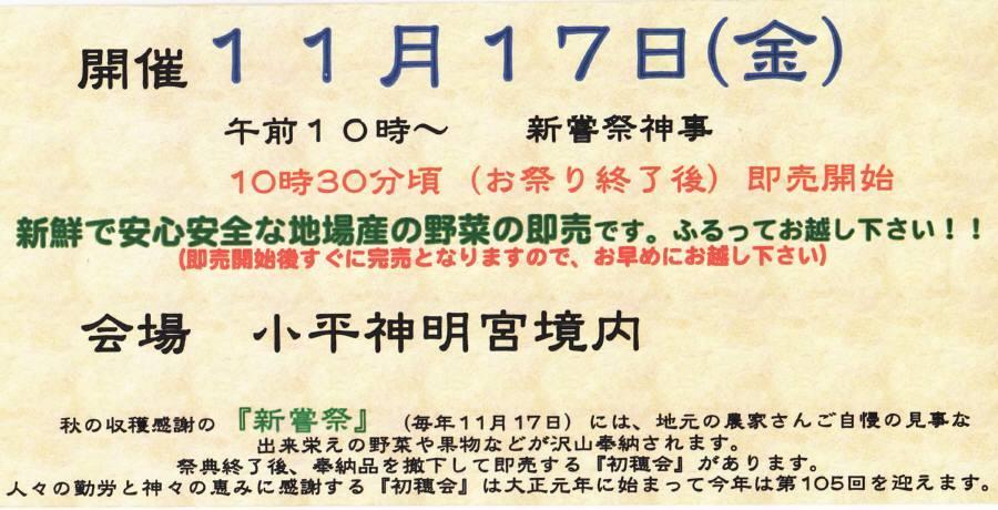 小平神明宮新嘗祭、初穂会_f0059673_17424098.jpg