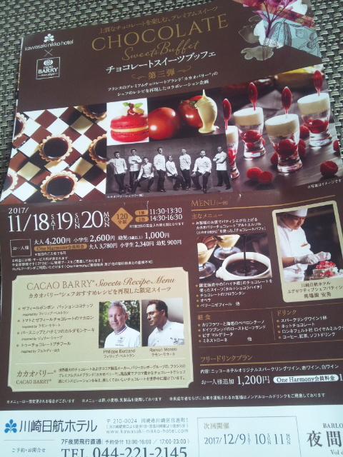 川崎日航ホテル 夜間飛行 チョコレートスイーツブッフェ第三弾_f0076001_21265290.jpg