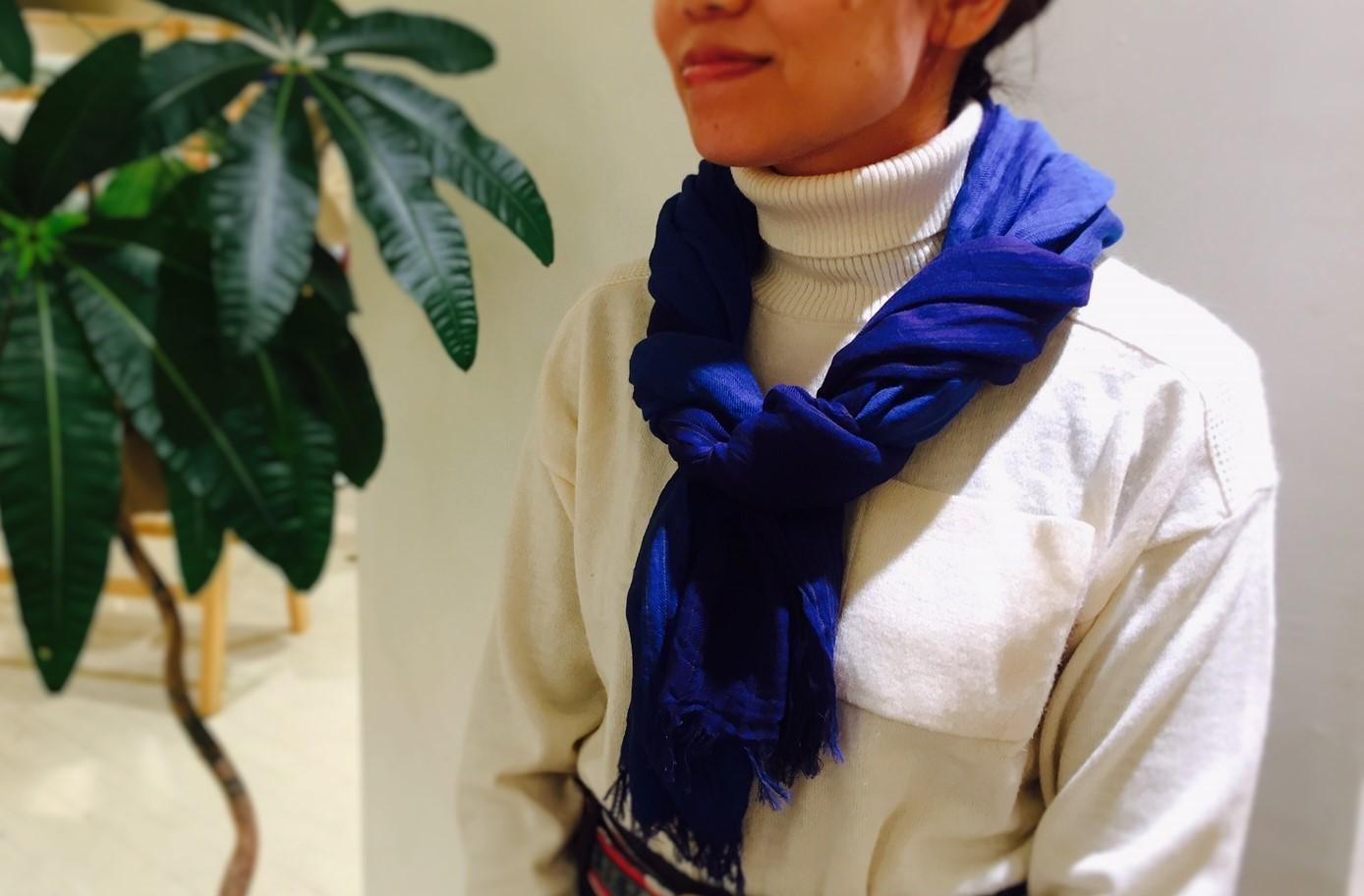 秋冬の首元に。播州織ストール 新色入荷のお知らせです^^_e0295731_14545836.jpg